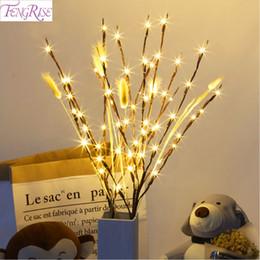 Decorazioni del ramo di natale online-20LED Willow LED Branch Lamp Noel Decorazioni di Natale per la casa regalo di Natale Capodanno Decor 2019 Xmas Table Decor Lights