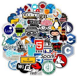 Programmation de pc en Ligne-1000 PCS Programmation Autocollant Technologie Logiciels Logiciels Données Ordinateur Autocollants pour Geek DIY Ordinateur Portable Téléphone PS4 Notebook