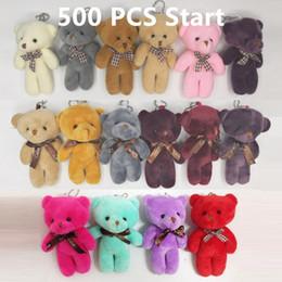 bolsa de regalo al azar Rebajas Kawaii Teddy Bear Doll Felpa Rellena Llavero Bolsa de Juguete Colgante Lindo Mini Muñeca 11-13 CM Juguetes Para Niños de Regalo de Color Al Azar
