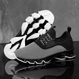 efbf3f28b778 Discount spring blades shoes - 2019 New black tech blade shoes quality men  shoes Lace Up