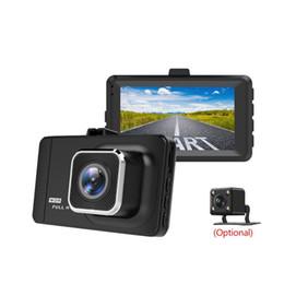 câmera de carro camry Desconto Dashcam Verdadeiro 1080 P Gravador de Condução 3 Polegada Tela IPS Auto Câmera Rijden Recorder Super Night Vision, WDR, Detecção de movimento, G-Sens car