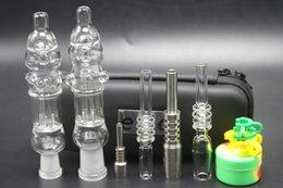 water pipes bag Coupons - Hot Sale 14mm Honey Bird Starw Set Portable Bag With GR2 Titanium Nai Real Quartz Nail Dabber Dab Rig Glass Water Pipes Bongs