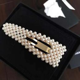 Nouveau Mode Femmes Épingles À Cheveux Or Jaune Plaqué Perle Pinces À Cheveux Perles Barrettes pour Filles Femmes pour Mariage Mariage Beau Cadeau ? partir de fabricateur