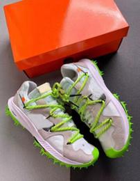 Argentina Lo nuevo Zoom Terra Kiger 5 Atleta en curso Blanco Hombre Zapatillas de deporte Zapatillas deportivas Eléctrico Verde / Plateado plateado-Vela Suministro