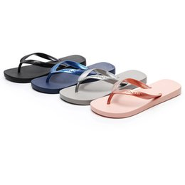 slipper clips Promo Codes - 2019 New Arrival Fashion Couple Slippers Non-slip Flip Flops Clip Toe Flat Botton Beach Big Size Slippers Zapatos Mujer 15