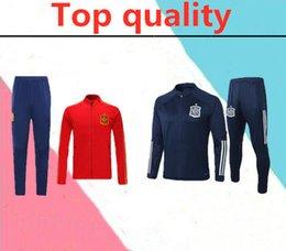 Canada 2020 Espagne adulte Veste de football Survêtement camiseta 2020 españa Morata A.INIESTA FABREGAS RAMOS DIEGO CITP Football Veste Survêtement Offre