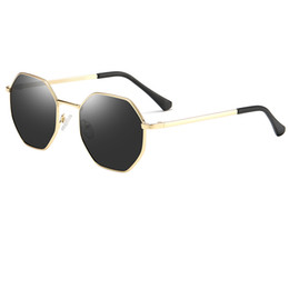 New brand designer men's women's multi-frame sunglasses six frame eye gold frame sunglasses frog mirror oval full frame glasses HD lens cheap men s eye frames de Fornecedores de armações para os olhos dos homens