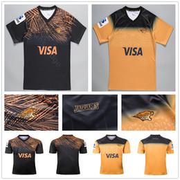 2019 2020 Nova Zelândia Super Rugby Jaguares Jerseys Casa Longe Amarelo Preto 19 20 Rugby League Camisas de Treinamento Tamanho S-XXXL de Fornecedores de jérsei de rugby azul amarelo