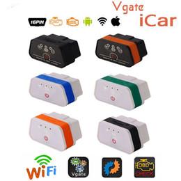 Elm327 ios online-Vgate icar2 Wifi OBD2 Herramienta de diagnóstico ELM327 wifi OBD 2 Escáner Mini ELM327 para Android / PC / IOS Code Reader