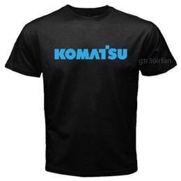 Argentina Nuevo Komatsu Excavator Machine Logo T-shirt Negro Suministro