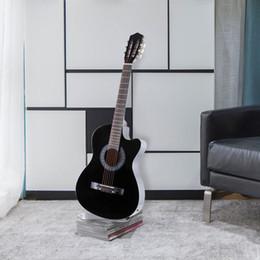"nova guitarra elétrica slash Desconto 38 ""design de fraque de guitarra acústica elétrica com guitarra caso, cinta, sintonizador preto"