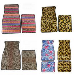 Tapetes de pés on-line-Esteiras do assoalho do carro universal leopard print pé tapetes 2 pcs por terno anti skidding multi cores 31dy f1
