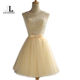 Коктейльные платья Аппликации Кристалл Короткие платья для выпускного вечера Коктейльное вечернее платье Robe Коктейль Courte Chic от