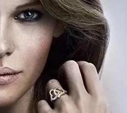 2019 anéis de diamante famoso Famoso duplo estilo de Anéis de diamante Personalidade Rose Gold Preenchido para mulheres presente da jóia da forma para o aniversário 0320 desconto anéis de diamante famoso