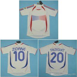 5a5d29682 Top 2006 World Cup FRANCE Retro Jerseys ZIDANE Soccer Jersey HENRY Vintage  classical 06 Football Shirt PIRES maillot de foot