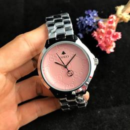 Relojes de logotipo de calidad online-Marca de lujo GUSS logotipo de las mujeres relojes de acero de alta calidad damas reloj de moda diseño simple vestido de pulsera reloj Montre Femme Sra.