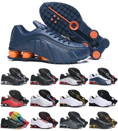 cheap cushion air shoes Coupons - Designer 2019 New Original Shox DELIVER R4 Mens Shoes Cheap Chaussures OZ NZ 301 Sneakers Black White Increased Air Cushion Zapatillas Shoes