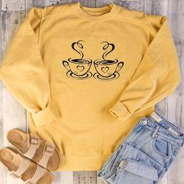 Café moletom on-line-Amante do café Camisola Christian Hoodies Mulheres Jumper Pullovers unisex algodão Moda Roupas Camisolas Outfits Tops Suores
