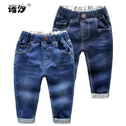 Canada Jeans bébé garçon coton coton pleine longueur bleu denim pantalon petit garçon outwear enfants taille élastique pantalon printemps pantalon causal cheap elastic waist jeans for children Offre
