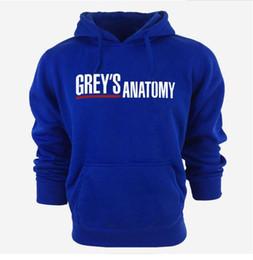Sudaderas grises casuales online-2018 Fashion Grey s Anatomy Letter Print Hooded Mens Hoodies y sudaderas de gran tamaño para el otoño con Hip Hop Winter Hoodies Hombres Marca