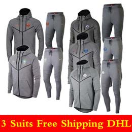3 шт. Комплект бесплатная доставка DHL 1819 высокое качество спортивной одежды 19 новый серый свитер с капюшоном куртки мужской футбол спортивный костюм от
