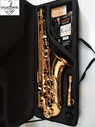 Saxophone laqué doré en Ligne-Nouveau japonais Yanagisawa T-902 Saxophone ténor si bémol plat instrument de musique en or laqué saxophone ténor professionnel avec étui accessoires