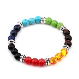 2019 malachitperlen Muti-Color Herren Armbänder Malachit Lava Chakra Healing Balance Perlen Armband Für Frauen Reiki Gebet Yoga Armband Steine günstig malachitperlen