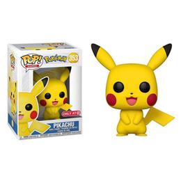 2019 funko pops dolls Más vendidos Pikachu muñecas de PVC de alta calidad Funko POP Pikachu juguetes animales de dibujos animados juguetes Artículos de decoración los mejores regalos