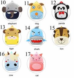 ef68cd83db 2019 cartone animato per la scuola 17 colori Bambini 3D Zaini Animali  Neonate Ragazzi Toddler Schoolbag