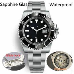 Наручные часы магазин онлайн-Glide Lock Роскошная керамическая рамка Сапфировая мужская 2813 Механический с автоматическим механизмом SS Модные часы мужские дизайнерские часы Наручные часы btime