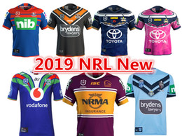 Caballeros azules online-2019 NEWCASTLE KNIGHTS WESTS TIGERS NORTH QUEENSLAND COWBOYS BRISBANE BRONCOS NSW BLUES HOME JERSEY tamaño S-3XL 2018 MELBOURNE STORM JERSEY