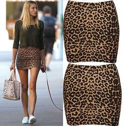 2020 tiere sexy heiße frauen HOT Verkaufs-Sommer-Frauen reizvolles Tier Leopard-Druck-Bleistift Damen Bodycon Miniröcke günstig tiere sexy heiße frauen