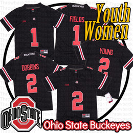 Ohio state buckeyes camisa de futebol on-line-Ohio State Justin Fields Mulheres Juventude Buckeyes Jersey 2 JK Dobbins 2 Chase Young NCAA Football Jerseys