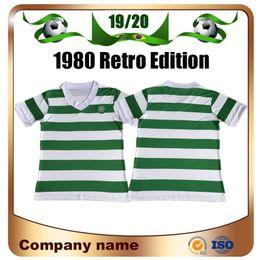 Futbol blanco verde online-Camisetas de fútbol celta de la edición retro de 1980 80/82 blanco y verde local Camiseta de fútbol de fútbol de Escocia vintage Charlie Nicholas Uniforme de fútbol