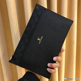 Sacos simples homem on-line-Moda de luxo mais recente dos homens bolsa preta high-end simples e generoso couro bolsa de grife dos homens moeda número da bolsa: 9346.