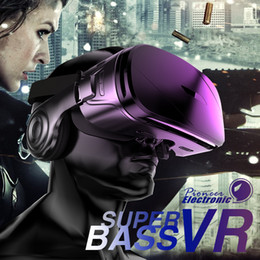 gafas de realidad virtual para iphone Rebajas 2019 más nuevos G300 VR Headsets Estéreo Realidad virtual Smartphone Gafas 3D Google BOX VR Headset con mando a distancia para iPhone de Android
