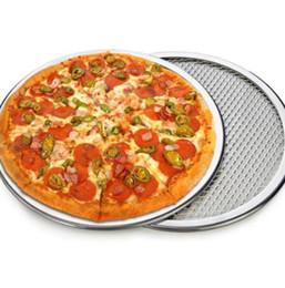 Plateau De Pizza En Aluminium Sans Soudure Crêpe Pizza Écran De Cuisson Plateau En Métal Net Bakeware Cuisine Cuisson Outils 6/7/8/9/10/11 / 12inch ? partir de fabricateur