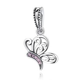 4 estilos venta al por mayor 925 encantos de plata esterlina mariposa abeja insectos colgantes Charm fit pulseras para joyería de las mujeres desde fabricantes