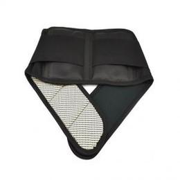 Calor Terapia de espalda magnética Cinturón de cintura Soporte Lumbar Brace Alivio para el dolor Pegajoso Cinturón de soporte ajustable LLA104 desde fabricantes