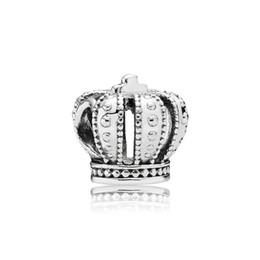 2019 pulseira de coroa de prata Marca acessórios de jóias Crown Europeu Beads Encantos caixa Original para Pandora 925 Sterling Silver Encantos Pulseira Fazer Jóias pulseira de coroa de prata barato