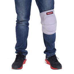 Коленная губка онлайн-Football Knee Pads Outdoor Running Op Slip Knee Warmers Thicker Sponge Brace Brace