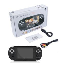 Console portátil gb on-line-PAP Gameta II Plus 4 GB HDMI 64Bit Jogos MP4 MP5 Consoles de Jogos de TV Portátil Handheld Game Player TV Fora Da Câmera E-Livro PVP Pxp3 PVP GB menino