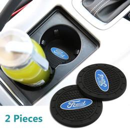 Carro do mondeo on-line-2 Pcs 2,75 polegadas Car Interior Acessórios Anti Slip Mat Cup para Ford Focus, Kuga, Fusion, Mondeo, Fiesta, Transit, Mustang, Ranger, F150, F350 F250