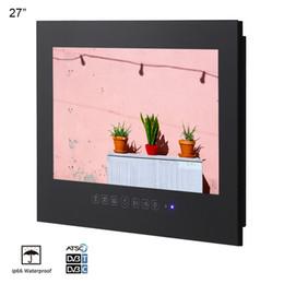 taux tvs Promotion 27 pouces noir IP66 étanche Full HD salle de sauna salle de bains fixé au mur TV LED sans cadre 1080p