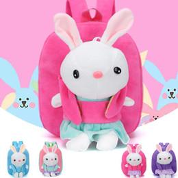 2019 bolsa de laptop de couro rosa Designer-New Little Girl Plush Cartoon Saco de Escola para Crianças do Jardim de Infância