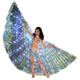 Ali Di Iside LED Glow Light Up Costume Di Danza Del Ventre Con Bastoncini