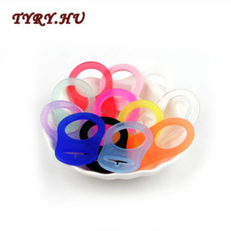 10Pcs//Set Silicone Button Dummy Pacifier Holder Clips Adapter  Rings Useful