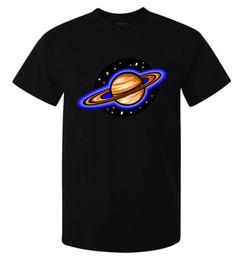 Camisas de espaço para galáxias femininas on-line-Galaxy Space Planet Saturno Cosmic Art homens (mulher disponível) camiseta preto
