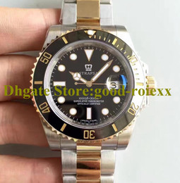 Relógios de ouro suíço eta on-line-4style Luxury Noobf Factory v7 Watch Mens Automatic Eta 2836 Movement Real Wrapped 18k Gold Never Fade Dive Sport 116613 Men Swiss Watches