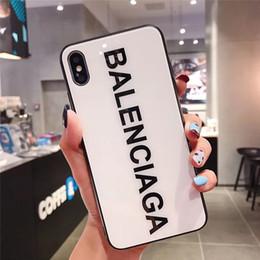 2019 estojo do coldre do telefone móvel One Piece luxo Phone Case Moda para Iphone XS XR MAX 7 8 Plus 6 6 s Palavras Famosas designer de vidro Telefone Tampa Traseira